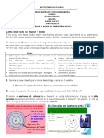ACTIVIDAD 3. 9. Acidos y bases Brønsted-Lowry