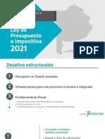 Síntesis. Presentación del proyecto de Ley de Presupuesto y Ley Impositiva 2021