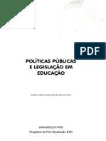 POLÍTICAS PÚBLICAS E LEGISLAÇÃO EM EDUCAÇÃO