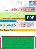 Poly Medicure Ltd (BSE Code 531768) - HBJ Capital's Street Smart Mid Cap Multibagger Stock Reco for Apr'10