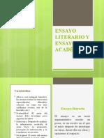 ENSAYO LITERARIO Y ENSAYO ACADÉMICO