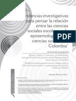 RELACIÓN CIENCIAS SOCIALES Y EPISTEMOLOGÍA