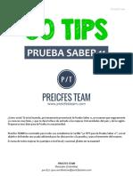 50 CONSEJOS PREICFES SABER 11 - PREICFES TEAM