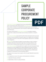 Sample Corporate Procurement Policy
