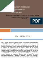 LEY 1562 DE 2018 RESUMEN
