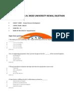 MBA III_HRD
