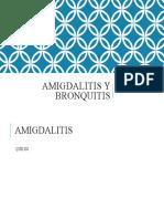 amigdalitis Y BRONQUITIS