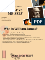 William James' I-self vs. Me-self