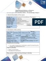 0. Activities guide and evaluation rubric. Pre-knowledge Stage 0