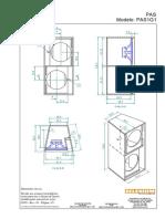 PAS Modelo PAS1G1 22,8 A 6,0 A 22,8 48,5 58,5. Corte A-A 38,8 35,5 59,5 24,0 9,0 54,7 61,0. Corte B-B F _CAIXAS ACÚSTICAS_PAS_PAS1_PAS1G1_PAS1G1.pdf