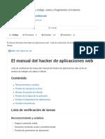 El manual del pirata informático de aplicaciones web - Lista de verificación de tareas - Rebajas con sabor a Github · GitHub.pdf