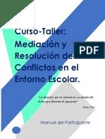 Manual del Curso Mediación y Resolución de Conflictos en el Entorno Escolar
