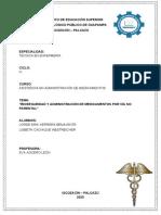 BIOSEGURIDAD Y ADMINISTRACION DE MEDICAMENTOS  VIA NO PARENTAL - KOKI Y LIZ