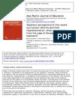 park2013 elementary teachers' perceptions to curriculum reform