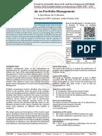 A Study on Portfolio Management