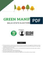 Green Manifesto 2020 Delhi State Elections