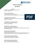 Metrobank directory