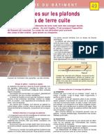 -49-Les Désordres Sur Les Plafonds en Éléments de Terre Cuite