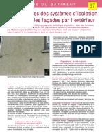 -37- Les Désordres Des Systèmes d'Isolation Thermique Des Façades Par l'Extérieur