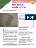 -58- Décollements de Peinture Sur Plafonds Neufs, En Béton