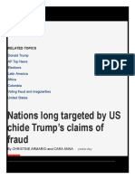 Nations Long Targeted by US Chide Trump's Claims of Fraud