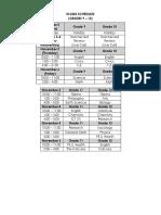 First Quarter Exams Schedules