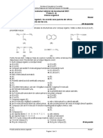 Examenul de bacalureat la chimie organică- model 2021