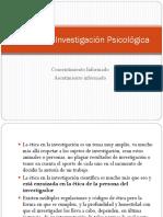Ética en la Investigación Psicológica