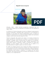 Biografía Tránsito Amaguaña