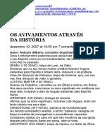 OS AVIVAMENTOS ATRAVÉS DA HISTÓRIA.docx