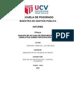 INFORME ANALISIS DE  CASO DE INICIATIVA LESGISLATIVA