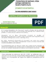 ESTADÍSTICA PARA INGENIEROS II-MAT-145-001-3-2020-UNIDAD I-2.CONTROL ESTADÍSTICO DE PROCESOS