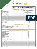 Especificações do Simulador de Escada AI5 Konnen Fitness