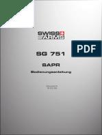 Swiss Arms - Bedienungsanleitung SG 751 SAPR