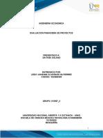 Evaluacion financiera ECBTI