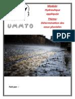 Détermination des eaux pluviales