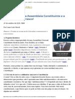 (29.10) - NANCO — A Nova Assembleia Constituinte e a profissão de carrasco!