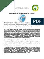 TALLER IMPORTANCIA DEL INTERNET PARA LOS JÓVENES