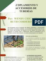 Acoplamiento y accesorios de tuberías. ruth