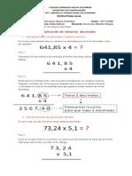 Multiplicación de números decimales 4°