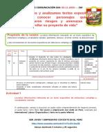 RESUMEN DEL ÁREA DE COMUNICACIÓN DIA 30-10-2020--5TO0