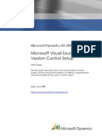 Visual SourceSafe Version Control Setup White Paper for Microsoft Dynamics AX 2009
