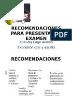 RECOMENDACIONES PARA PRESENTAR EL EXAMEN-cl