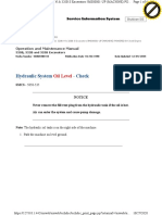 10 Hydraulic System Oil Level - Check