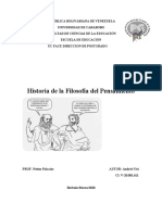 historia de la filosofia del pensamiento