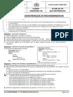 Info Pcd Fiche de Td Algo-2020-2021