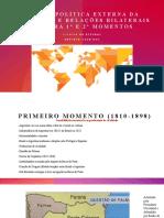 Live 17-Política Externa da Argentina e Relações bilaterais com o Brasil-Primeiro e segundo momentos