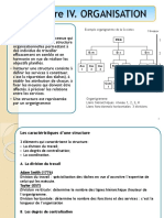 Chapitre IV. ORGANISATION