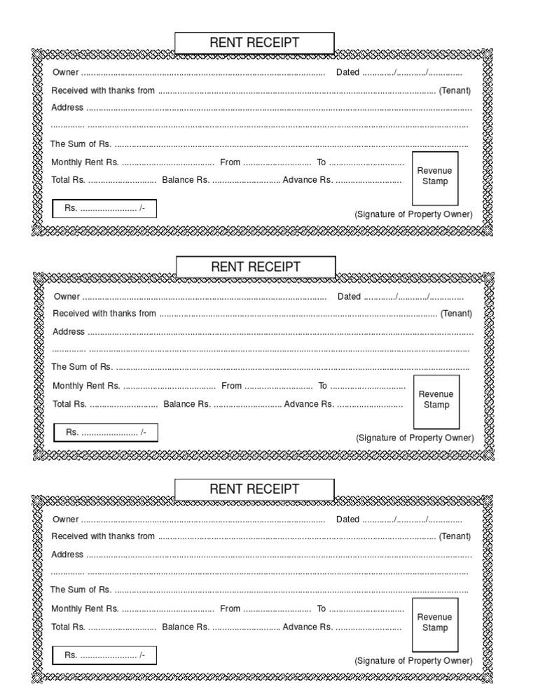 download rent receipt format india Oylekalakaarico
