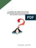 CUADERNO DE ORIENTACIÓN PARA ESTUDIANTES DE 4º DE EDUCACIÓN SECUNDARIA OBLIGATORIA